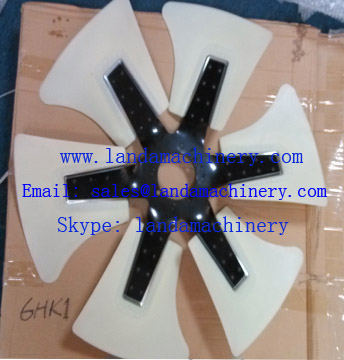 ISUZU 6HK1 engine radiator fan blade for Hitachi excavator ZX330