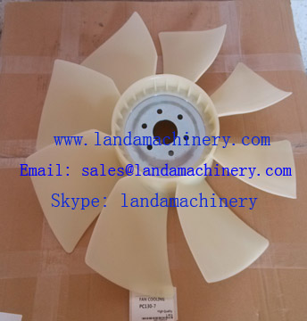 komatsu 600-625-8550 PC130-7 Excavator SAA4D95LE engine radiator fan cooling